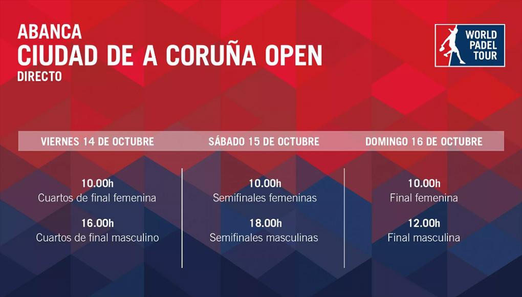 Horarios del streaming del ABANCA Ciudad de A Coruña Open
