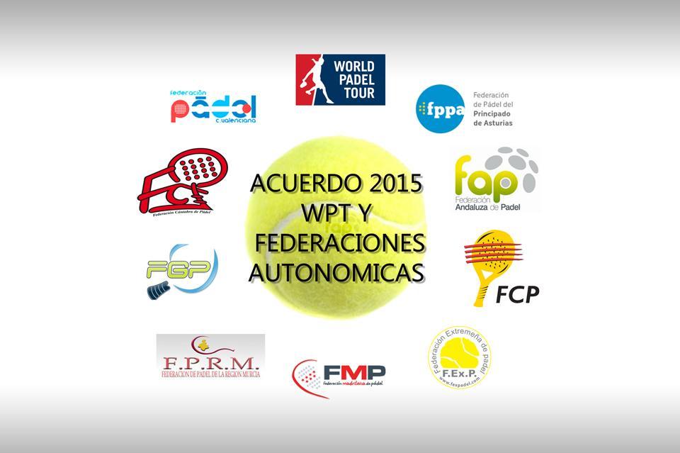 Acuerdo entre World Padel Tour y 9 Federaciones Autonómicas
