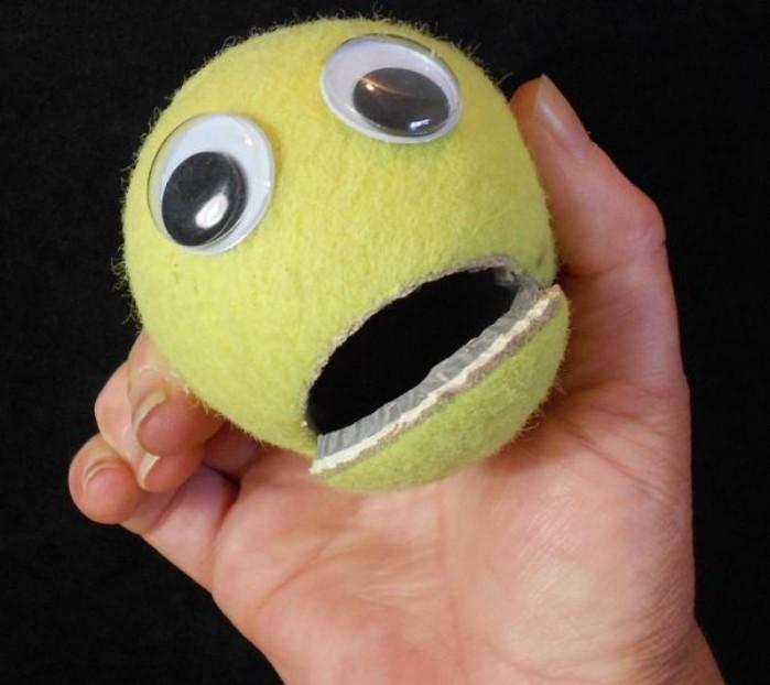 Reutilizar las pelotas para hacer muñecos