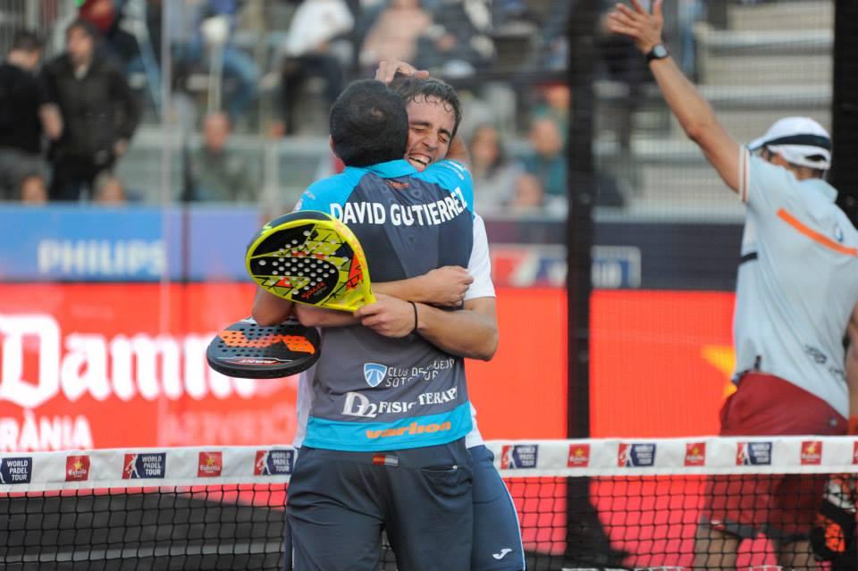 Lucho Capra y David Gutiérrez durante el Master de Barcelona de 2015