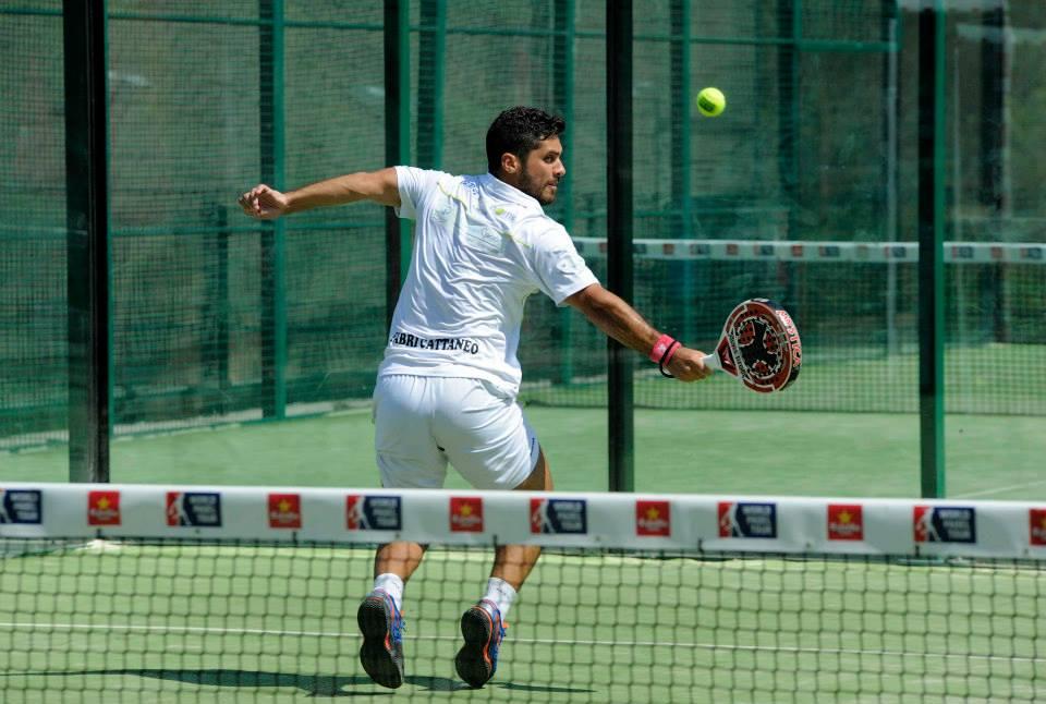 Fabri Cattaneo jugando la fase previa del Palma de Mallorca Open