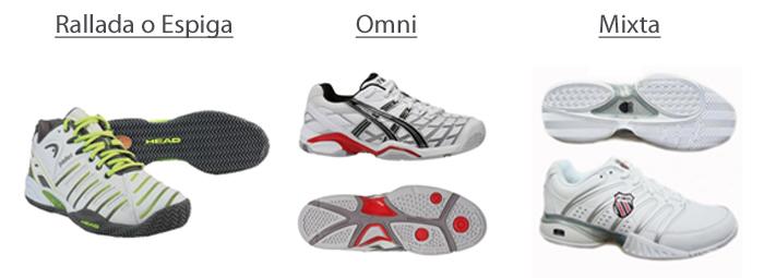 Tipos de suelas en las zapatillas de pádel