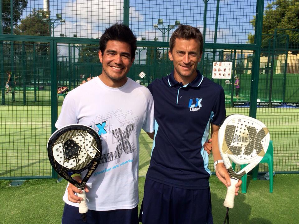 Daniel Dios junto a su compañero Gabo Loredo, gestores de las actividades de padel en el club Real Club Padel Marbella