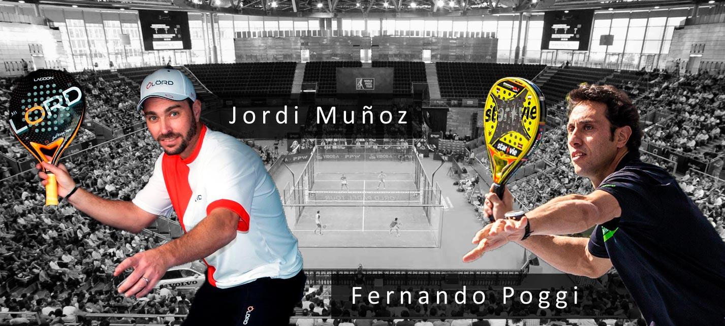 Muñoz y Poggi, nueva pareja del World Padel Tour