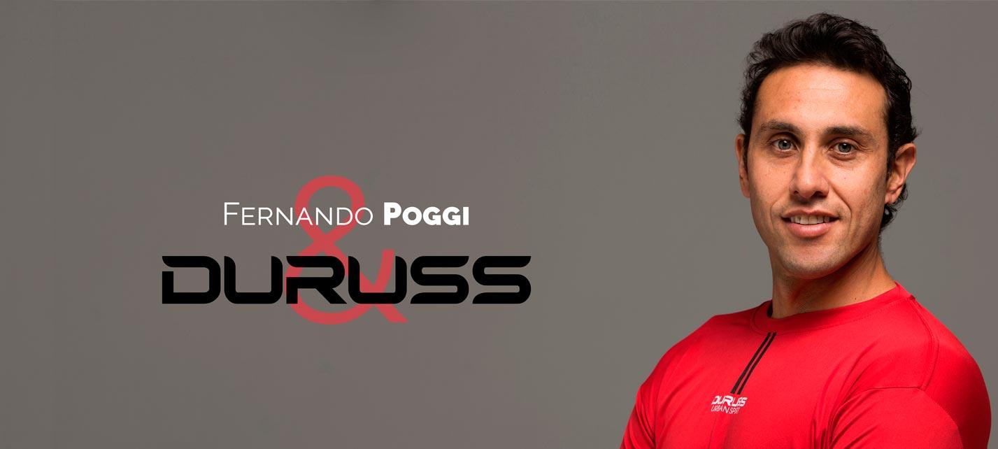 Fernando Poggi ficha por la marca Duruss