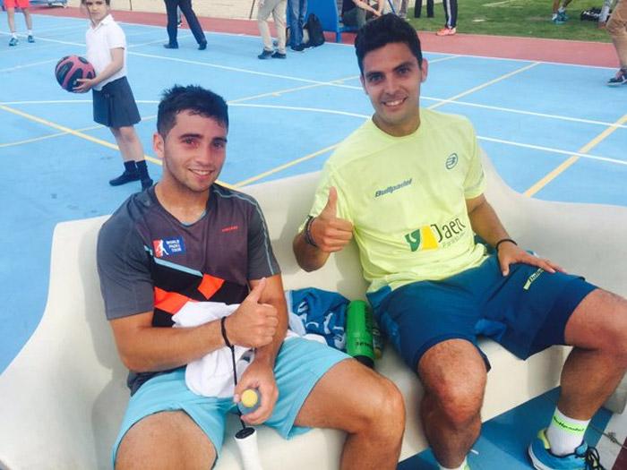 Cristian y Antonio se llevaron el partido más disputado de la fase final de la previa