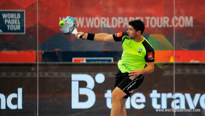 Agustín Gómez Silingo durante su partido de dieciseisavos de Las Rozas Open