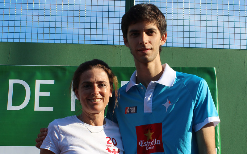 El jugador del World Padel Tour Matías Marína realizó un clinic durante el torneo