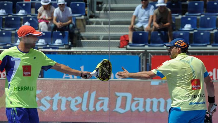 Juan Martín Díaz y Cristian Gutiérrez apenas tuvieron problemas para ganar su partido