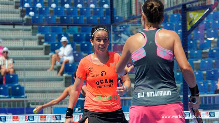 Patty Llaguno y Eli Amatrian ganaron en dos intensos sets y ya están en semifinales