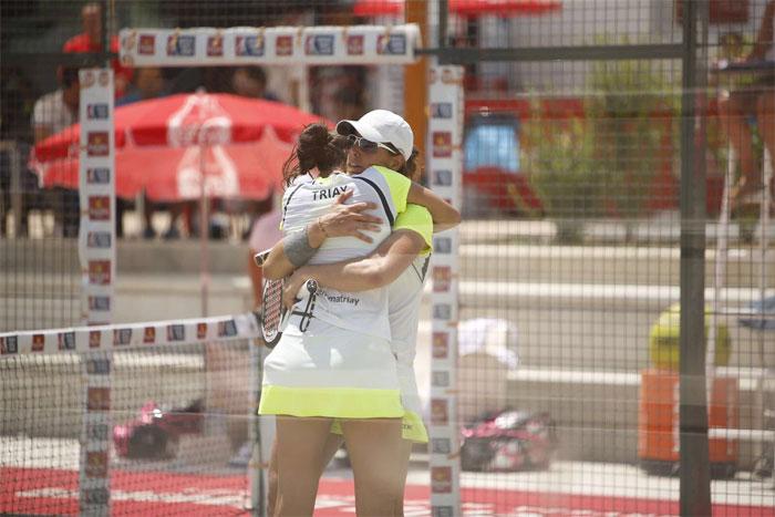 Triay - Sainz dieron la sorpresa en los cuartos del cuadro femenino