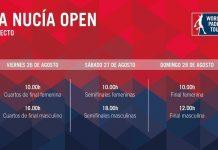 El streaming de La Nucía Open comenzará el viernes