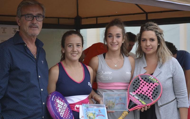 Pareja ganadora de la categoría femenina Torneo Ciudad de Úbeda 2016