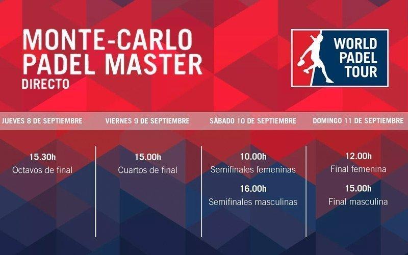 El streaming del Monte-Carlo Padel Master comenzará el jueves