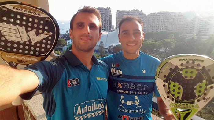 Foto de Javi Limones y Víctor Ruíz tras conseguir la victoria