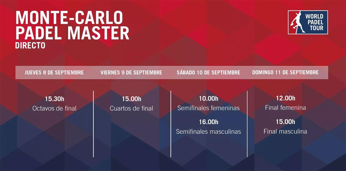 Streaming del Monte-Carlo Padel Master