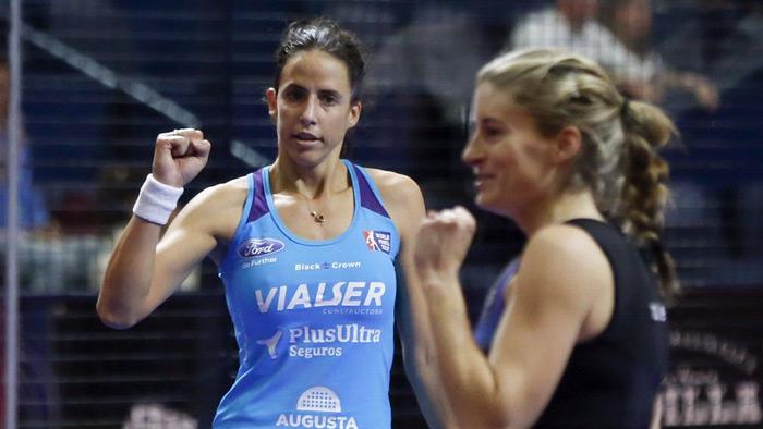 Marta Marrero y Ale Salazar tuvieron que afrontar un duro partido
