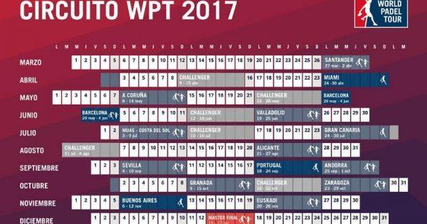 Calendario World Padel Tour.The Calendar Of The World Padel Tour 2017 Consult Venues