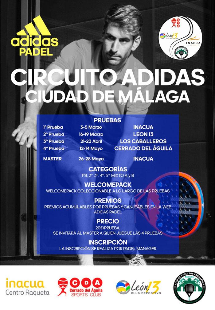 Cartel del Circuito Adidas Ciudad de Málaga