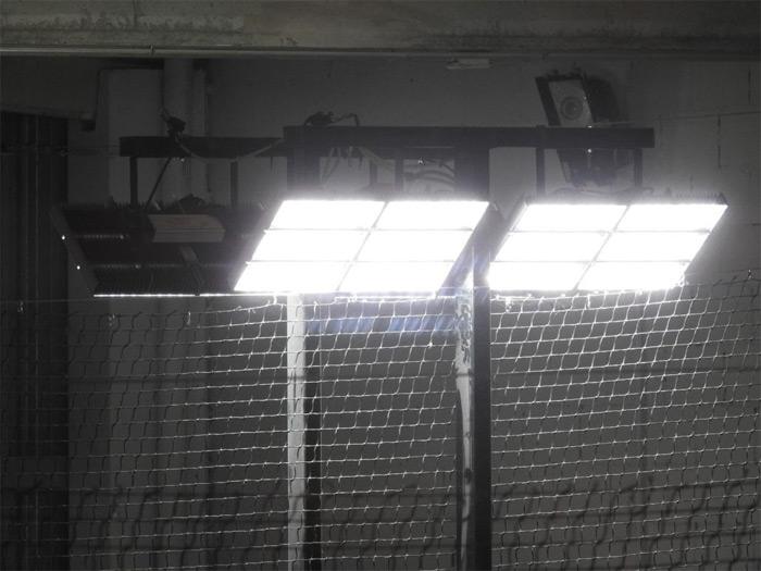 Iluminación de la pista de pádel