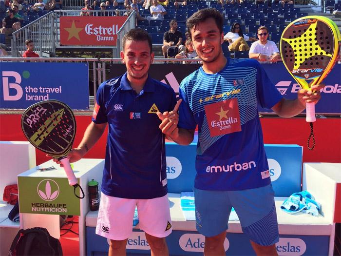 Juan Cruz Belluati y Ale Galán ganaron su partido de dieciseisavos del Master de Barcelona