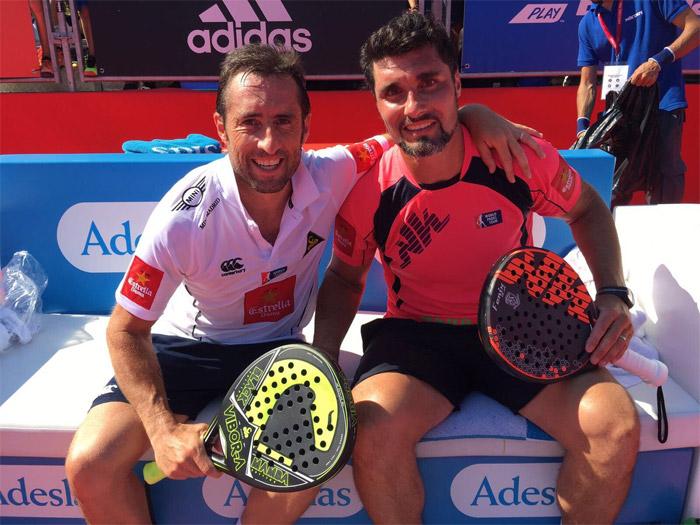Grabiel y Silingo ganaron en tres sets en su partido de octavos del Master de Barcelona