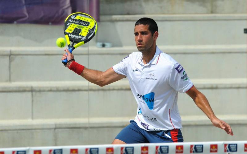 Javi Escalante y su compañero Toni Bueno accedieron al cuadro final del Valladolid Open