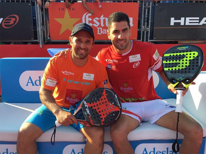 Matías Díaz y Maxi Sánchez ganaron en dos sets su partido de octavos del Barcelona Master