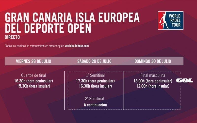 Horarios del streaming del Gran Canaria Open