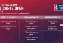 Conoce los horarios del streaming del Alicante Open