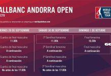 Conoce los horarios del streaming del Andorra Open