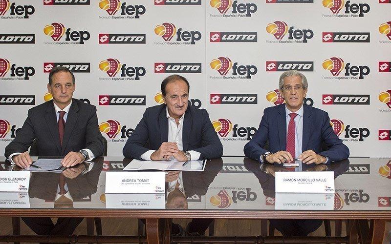 Lotto Sport Italia y la Federación Española de Pádel anuncian su acuerdo de patrocinio técnico