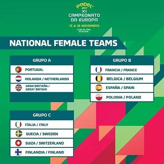 Fase de grupos selecciones femeninas Campeonato Europeo de pádel
