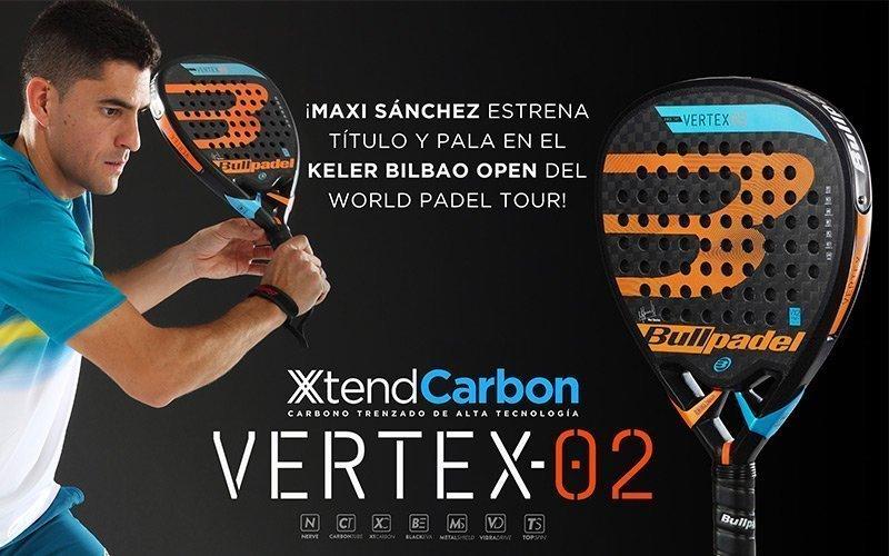 Bullpadel presenta la nueva Vertex-2, la pala de Maxi Sánchez