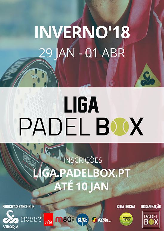 Cartel de la Liga Kia Niro PadelBox Edición Invierno 2018