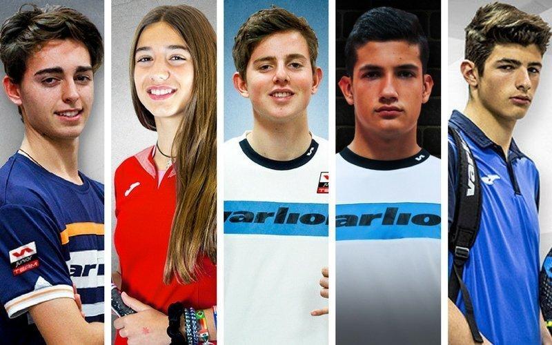 Varias promesas del pádel español se unen al Varlion Junior Team