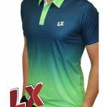 Polo técnico LX Planet azul/verde