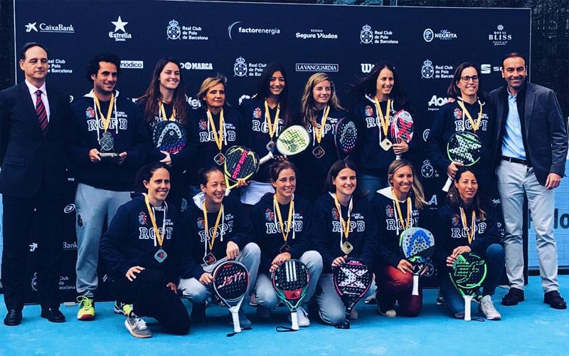 El Real Club de Polo de Barcelona se lleva el XXXIV Campeonato de España de Pádel por Equipos en chicas