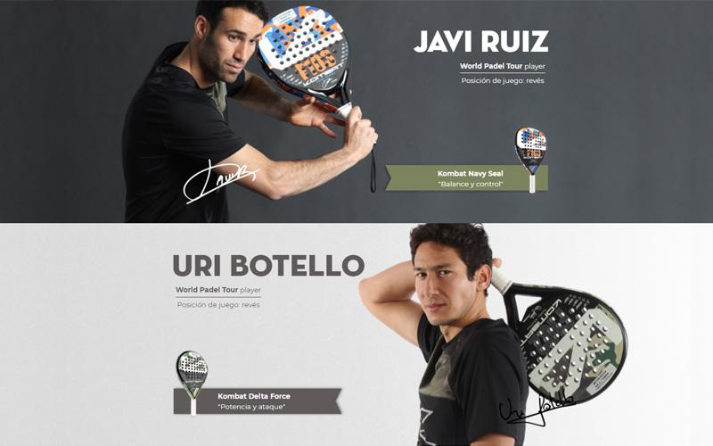 Javier Ruíz y Uri Botello fichan por la marca Kombat Padel