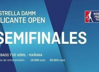 Sigue ya en directo el streaming de las semifinales del Alicante Open