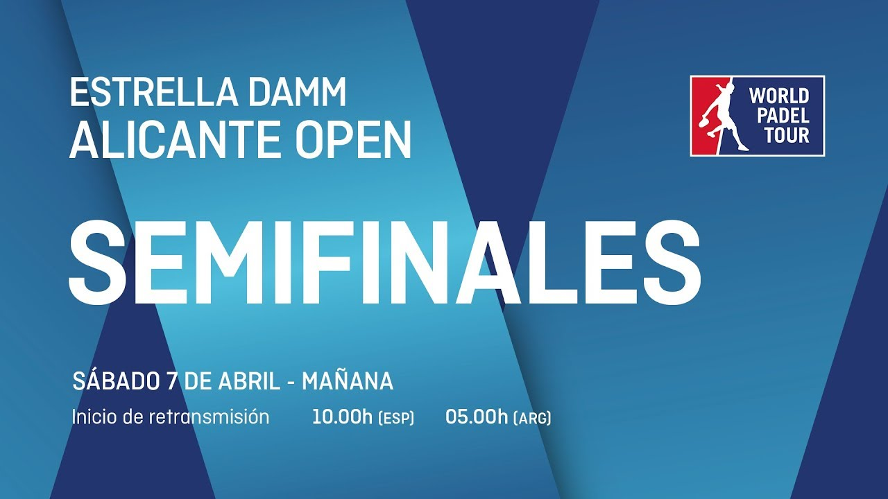 Sigue ya en directo el streaming de las semifinales del Alicante Open