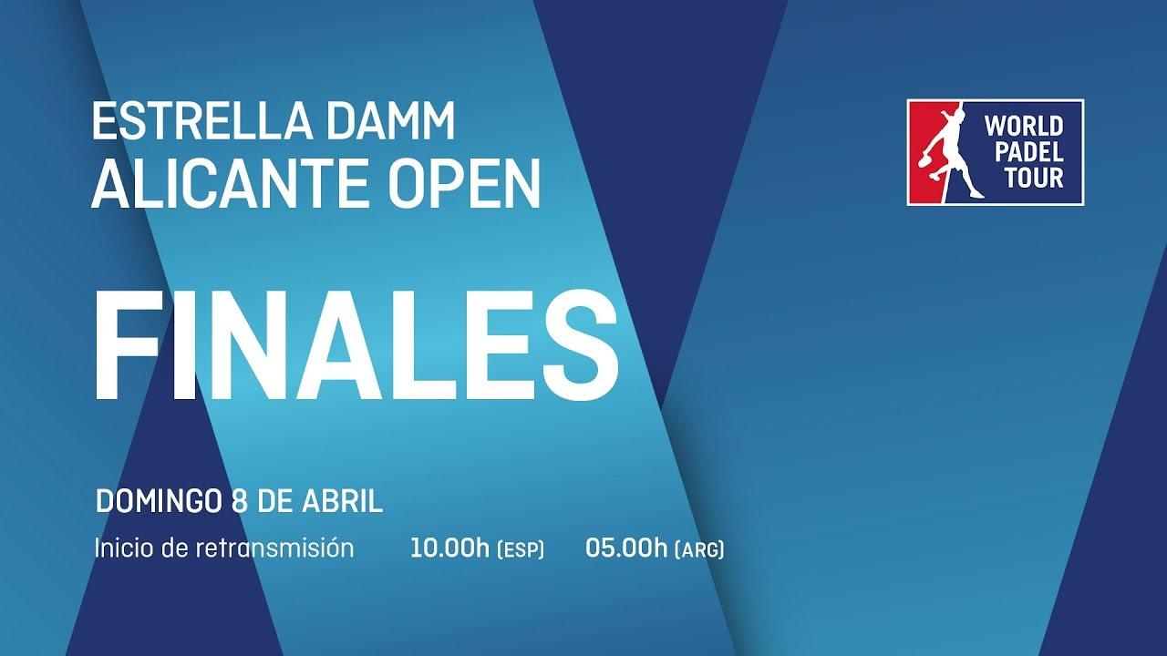 Sigue ya en directo el streaming de las finales del Alicante Open