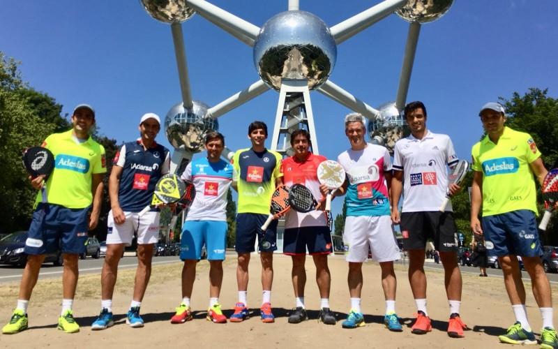 Jugadores del World Padel Tour que han participado en el Brussels Exhibition 2018