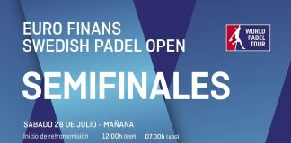 Sigue en directo el streaming de las semifinales del Swedish Padel Open