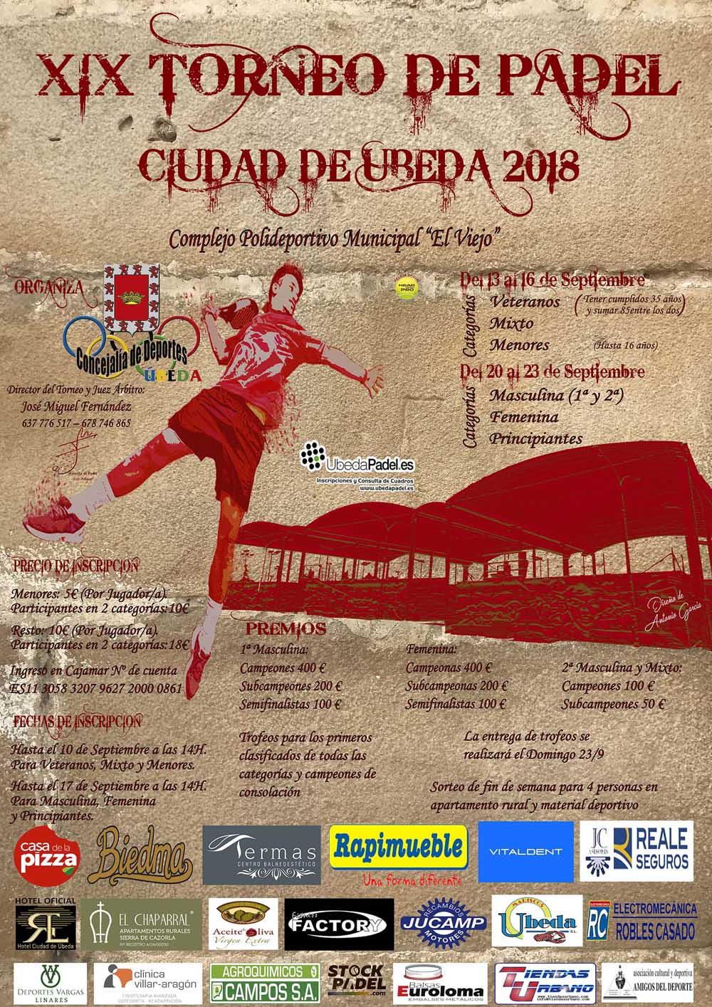 Cartel del XIX Torneo de pádel Ciudad de Úbeda
