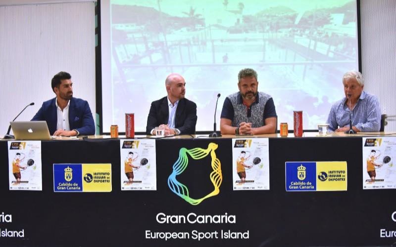 Declaraciones en la presentación de la octava edición del Open de Pádel Barceló Hotel Group