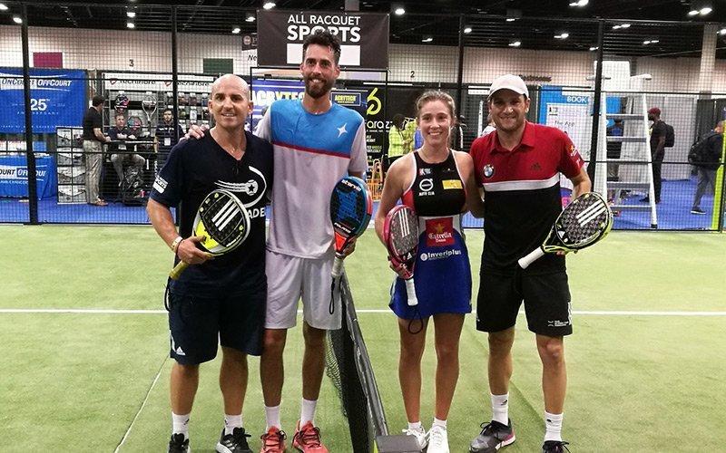 El pádel fue uno de los protagonistas de la Feria del Tenis y el Golf de Orlando, Estados Unidos