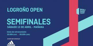 No te pierdas el streaming de las semifinales del Logroño Open