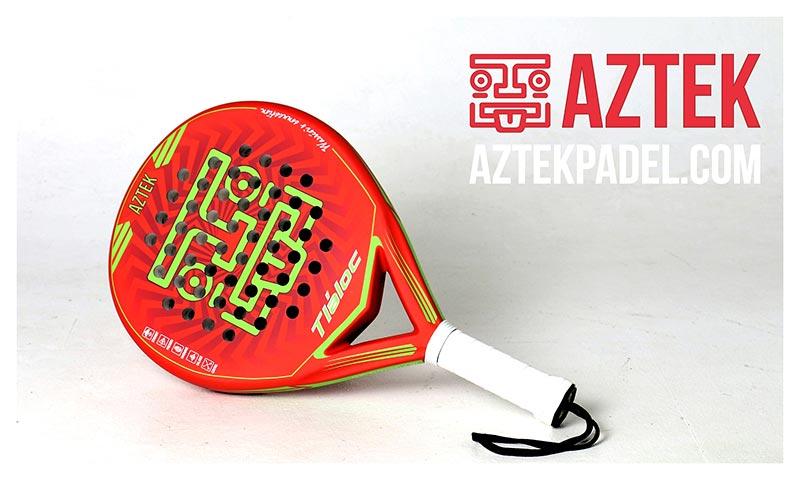 Pala de pádel AZTEK Tláloc roja