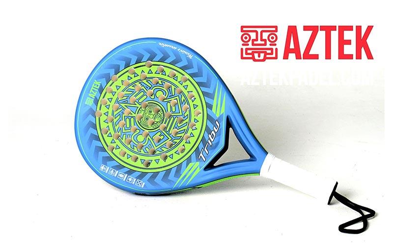 Pala de pádel AZTEK Tribu azul/verde lima